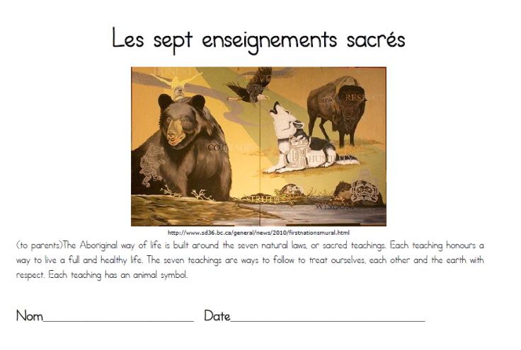 Les sept enseignments sacrees
